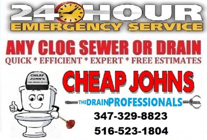 Cheap Johns The Drain Pros 49 Dollar Drain Cleaning